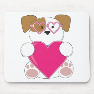 Puppy Love Sunglasses Mouse Pad