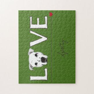 Puppy Love Text Art - Customizable Jigsaw Puzzle