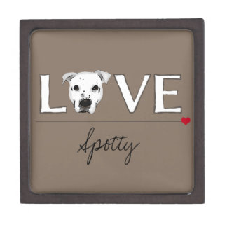 Puppy Love Text Art - Customizable Premium Gift Boxes