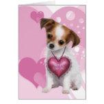 Puppy Love Valentine Greeting Cards