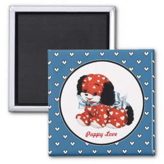Puppy Love. Valentine's Day Gift Magnets