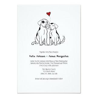 Puppy Love Wedding Invitation