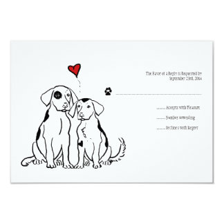 Puppy Love Wedding Invitation RSVP