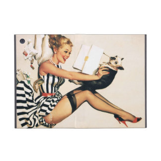 Puppy Lover Pin-up Girl - Retro Pinup Art iPad Mini Case