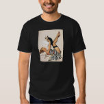 Puppy Lover Pin-up Girl - Retro Pinup Art T-Shirt