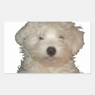Puppy Lucky Love Rectangular Sticker