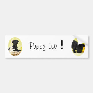 Puppy luv bumper sticker