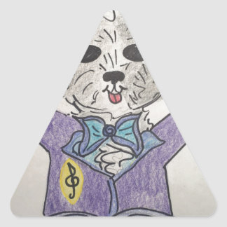 Puppy Maestro Triangle Sticker