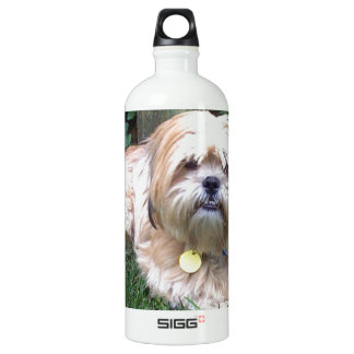 Puppy Mill Survivor - Give Mill Dogs a 2nd Chance! Aluminum Water Bottle