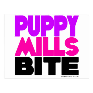 Puppy Mills Bite Postcard