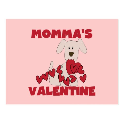 Puppy Momma's Valentine T-shirts and Gifts Postcard