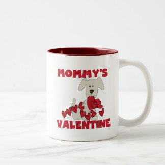 Puppy Mommy's Valentine T-shirts and Gifts Two-Tone Coffee Mug