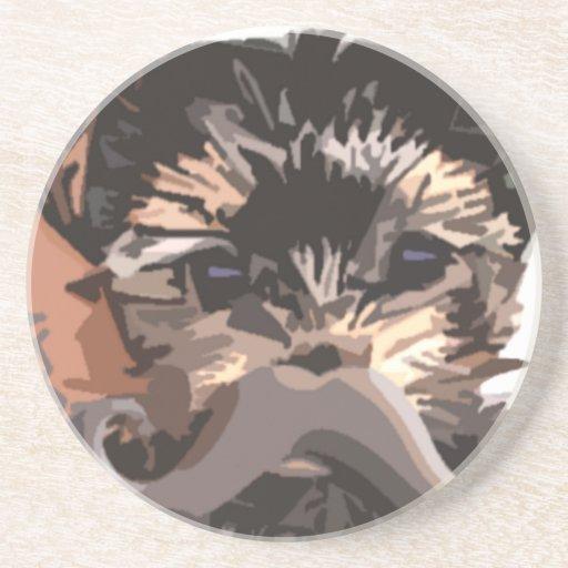 Puppy Mustache Coasters
