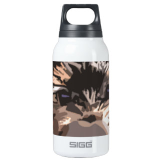 Puppy Mustache Insulated Water Bottle