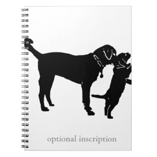 Puppy Note! Optional Custom Inscriptio Notebook