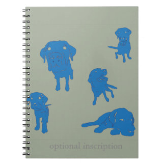 Puppy Note! Optional Custom Inscription Notebook