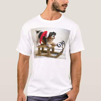 Puppy on a Sled T-Shirt