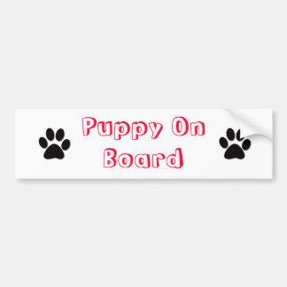 puppy on board bumper stickers