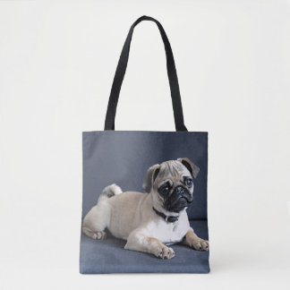 Puppy On Lounging Couch Tote Bag