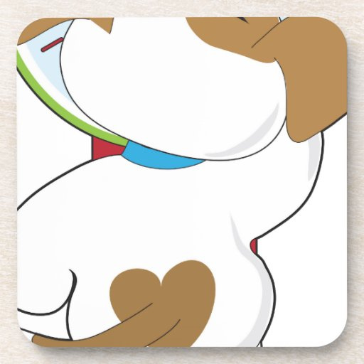 Puppy on Scale Beverage Coasters