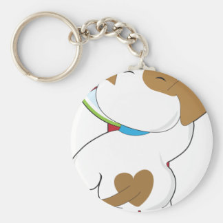Puppy on Scale Keychain