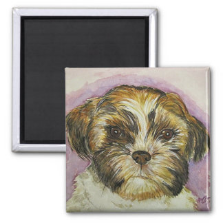 puppy painting magnet