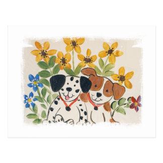 Puppy Pair Postcard