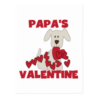 Puppy Papa's Valentine Tshirts and Gifts Postcard