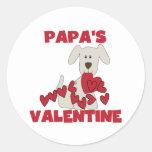 Puppy Papa's Valentine Tshirts and Gifts Classic Round Sticker