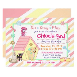 Puppy Party Birthday Invitation  |  5x7