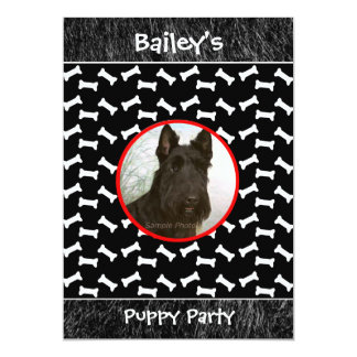 Puppy Party Dog Gathering Custom Photo 5x7 Paper Invitation Card