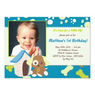 puppy party invitations  announcements  zazzle, Party invitations
