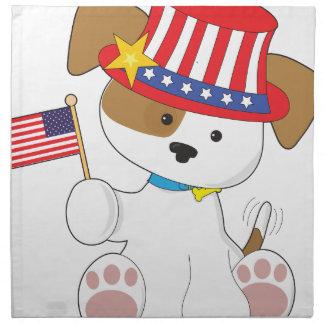 Puppy Patriotic Cloth Napkins