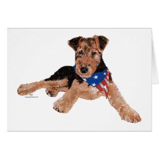 Puppy Patriotic Neckerchief Card