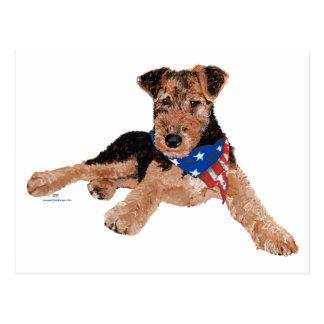 Puppy Patriotic Neckerchief Postcard