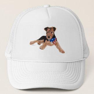Puppy Patriotic Neckerchief Trucker Hat