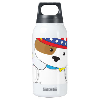 Puppy Patriotic Thermos Water Bottle