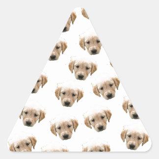 puppy pattern triangle sticker