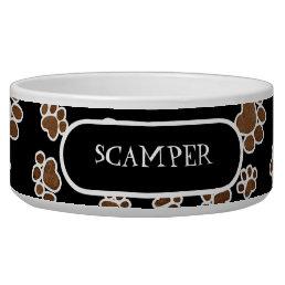Puppy Paw Prints or Large Dog Food Feeding Dish