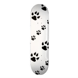 Puppy Paw Prints Skateboard Deck