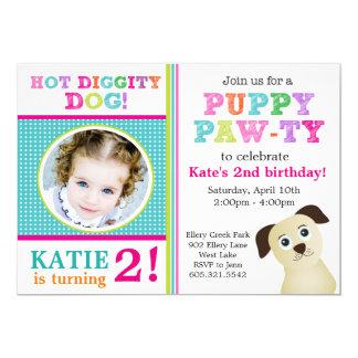 Puppy Paw-ty Birthday Party Invitation