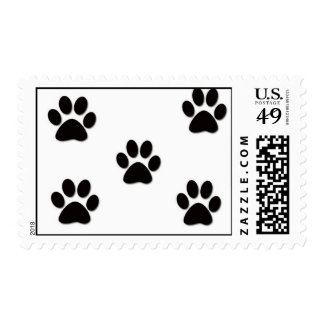 Puppy Pawprints Postage