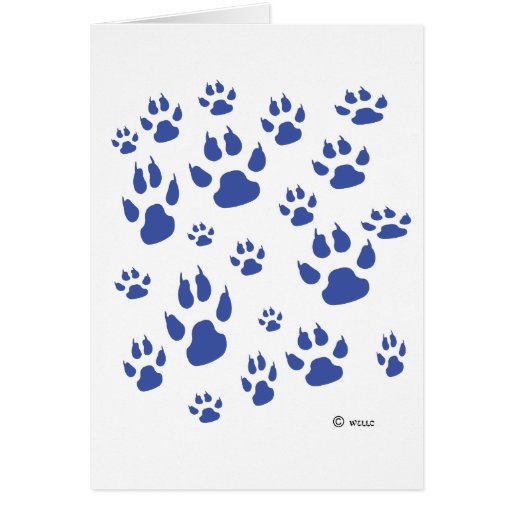 Puppy paws galore greeting card