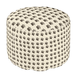 Puppy paws pouf footstool beanbag