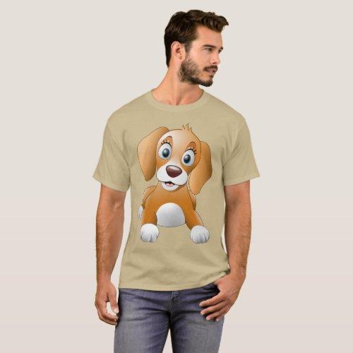 Puppy Photo shoot Mens Basic Dark T_Shirt