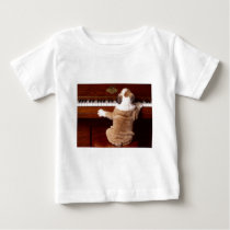 Puppy Pianist Baby T-Shirt