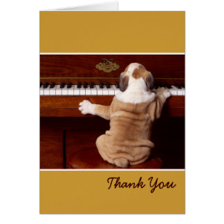Puppy Pianist Thank You Card
