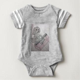 puppy piano baby bodysuit