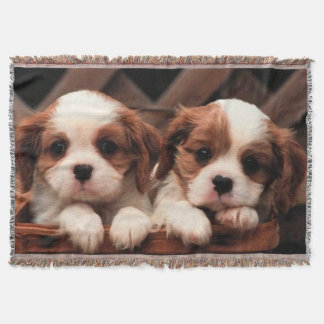 Puppy Pictures Throw Blanket