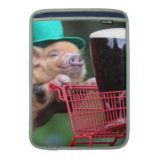 Puppy pig shopping cart MacBook air sleeve